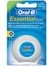 Нитка зубна Oral-B Essential Floss Воскована 50 м